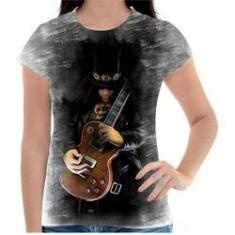 Imagem de Camiseta Personalizada Feminina Jogo Guitar Hero 01