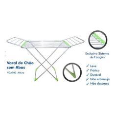 Imagem de Varal Aluminio De Chao C/abas 0,90x1,60x0,60