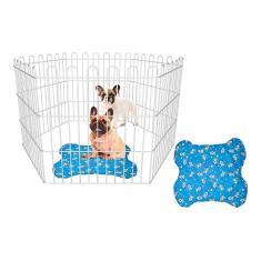 Cercado Para Cachorro Pets Cães Pequenos Domésticos + Tapete