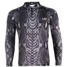 Imagem de Camiseta De Pesca King Proteção Solar Uv KFF70 - Pele Cobra