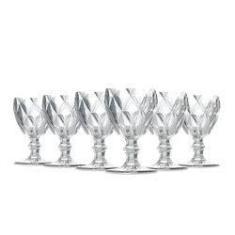 Imagem de Jogo De Taças Água Diamante Clear 260Ml Vidro Class Home