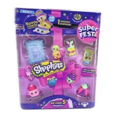 Imagem de Shopkins Super Festa Série 7 - Kit Com 5 Sortidos - Dtc
