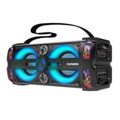 Caixa Som Portátil Neon 25 Telefunken Bluetooth/USB 300W C/ Microfone