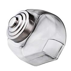 Imagem de Euro, Baleiro Retro de Vidro com Tampa, 2.4 litros, Incolor/Inox