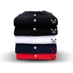 Imagem de Kit 5 Camisas Masculina - Polo Live
