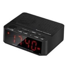Imagem de Rádio Relógio Despertador Digital De Mesa Fm Bluetooth Tf Lelong LE-674
