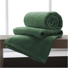 Imagem de Cobertor / Manta de Microfibra queen 210 g/m² Andreza Verde