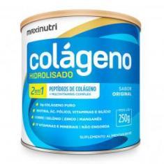 Imagem de Colágeno Hidrolisado 2 Em 1 - 250g Original - Maxinutri