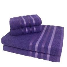 Imagem de Jogo de Toalha 4 Peças kit de toalhas 2 banho 2 rosto Jogo de Banho Lilás
