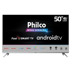 "Smart TV LED 50"" Philco 4K HDR PTV50G71AGBLS 4 HDMI"
