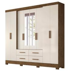 Guarda-Roupa Casal 8 Portas 4 Gavetas com Espelho San Lorenzo Plus 2E Moval