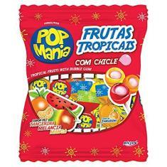 Imagem de Pirulito Pop Mania Frutas Tropicais Recheio Chiclete c/50 - Riclan