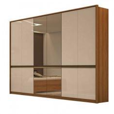 Imagem de Guarda-Roupa Casal 6 Portas Gavetas com Espelho Urban Móveis Lopas