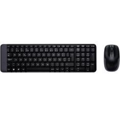 Imagem de Teclado E Mouse Logitech Mk220 Sem Fio Compacto Abnt2