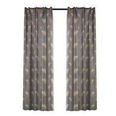 Imagem de Cortinas blackout para quarto Cortinas impressas com isolamento térmico Cortinas Decoração de casa para sala de estar (2 painéis, 39 '' x 51 '')