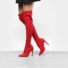 Imagem de Bota Over The Knee Luiza Barcelos Elastano Ecowear Feminina -