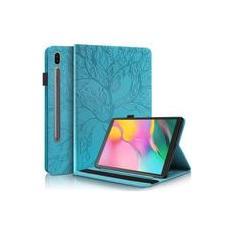 Imagem de Pefcase Samsung Galaxy Tab S7 11 polegadas Case 2020 SM-T870/875 Slim Premium PU Couro Folio Stand Capa Shell com lápis holder cartão bolso cinto elástico para Galaxy Tab S7 11 polegadas Tablet - Turquesa