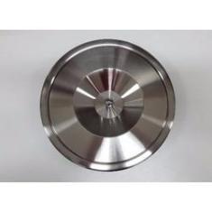 Imagem de Lixeira Pia Embutir 8 Litros Inox Escovado E Alumínio