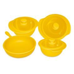 Imagem de Jogo de Panelas Oxford Cookware Cerâmica Linea Solaris - 4 Peças