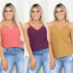 Imagem de Blusa Roupa Feminina Alça Regata Alcinha Reguladora