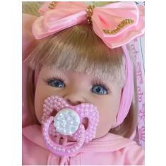 Imagem de Boneca Bebê Reborn Realista Carinha de Anjo
