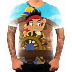 Imagem de Camiseta Camisa Personalizada Jake E Os Piratas Desenho 2