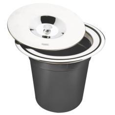 Imagem de Lixeira De Embutir Tramontina Em Aço Inox Com Balde Plastico 5 L