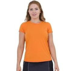 Imagem de Camiseta Feminina Fitness Laranja Lean