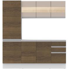 Imagem de Cozinha Compacta 2 Gavetas 8 Portas Smart Madesa