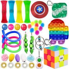 Imagem de 1/39Pcs Pop It Push Pop Bubble Fidget Anti-ansiedade Toys