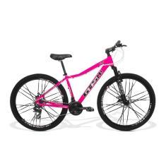 Bicicleta GTSM1 24 Marchas Aro 29 Suspensão Dianteira Freio a Disco Mecânico Ride Feminina