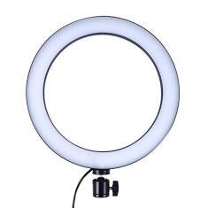 Imagem de OYJJ LED Ring Fill Light, 3 modos de cor Dimmable Ring Light, USB Powered Selfie Ring Light para transmissão ao vivo, Maquiagem, Câmera, Selfie