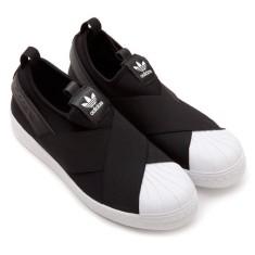 Tênis Adidas Feminino Casual Superstar Slip On