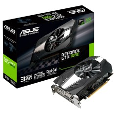 Placa de Video NVIDIA GeForce GTX 1060 3 GB GDDR5 192 Bits Asus PH-GTX1060-3G