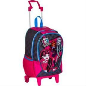 Mochila com Rodinhas Escolar Sestini Monster High 16 Litros Monster High 62820