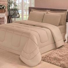 Imagem de Kit 4 Peças Edredom Confort Dupla Face Solteiro Cotex