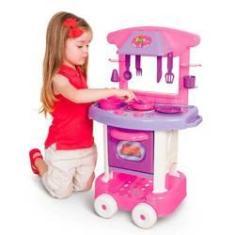 Imagem de Cozinha Play Time Forno Fogão E Pia Brinquedos 66cm Cotiplas