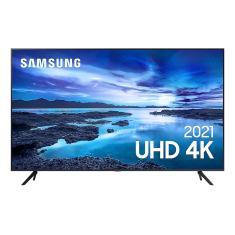 """Smart TV LED 75"""" Samsung Crystal 4K HDR 75AU7700"""