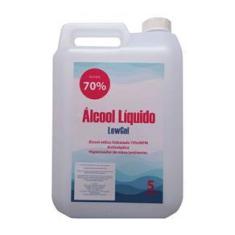 Álcool Líquido 70% Anti-séptico 5 LITROS NOTIFICADO ANVISA