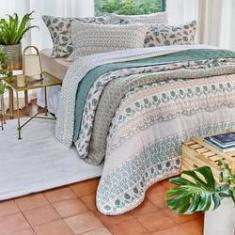 Imagem de jogo de cama queen artex total mix 180 fios 100% algodão eucalipto rosê