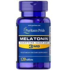 Imagem de Melatonina 3Mg (120 Tabletes) - Puritan's Pride