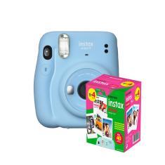 kit Câmera Instantânea Fujifilm Instax Mini 11 Azul + Filme com 40 Fotos