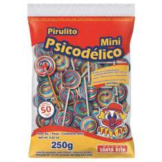 Imagem de Mini Pirulito Psicodélico Colorido c/50 - Santa Rita