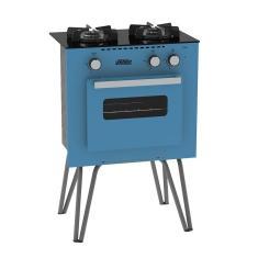 Fogão de Piso Venax Mini Cook 2Q 2 Bocas Acendimento Manual