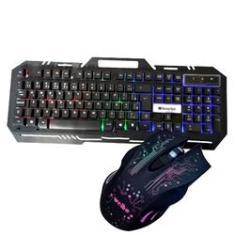 Imagem de Kit Teclado Gamer Semi Mecánico Rgb Mouse Led 3200 Dpi