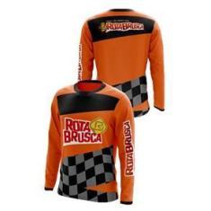 Imagem de Camisa Rota Brusca Motocross Trilha Laranja