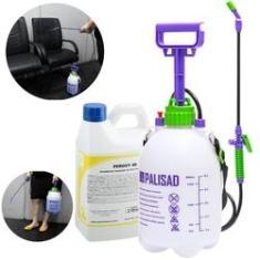 Imagem de Kit Desinfetante Limpador de Ambientes e Objetos Pulverizador 5L c Desinfetante 2L Peroxy 4D