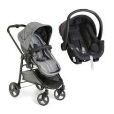 Imagem de carrinho de bebê moisés olympus grafite com bebê conforto  - galzerano