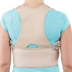 Imagem de Colete Postural Corretor Coluna Cervical Costas Lombar Ombro Circulação Reumática Má Postura