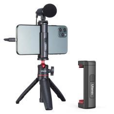 Imagem de Suporte tripé para smartphone ulanzi-vlog, para iphone 12 pro max 11, com montagem em sapata fria